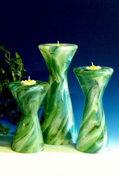 Teelicht bunt-grün