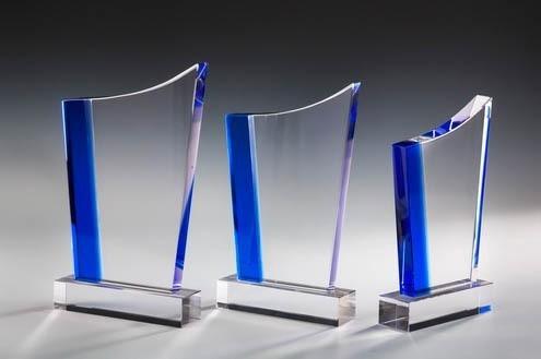 Designer Glastrophäe