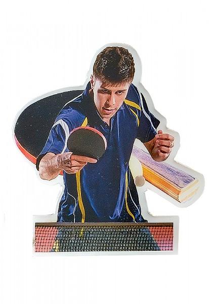Tischtennis-selbstklebendes Logo