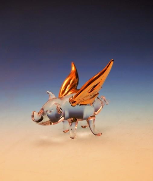 Glücksschwein mit Flügel