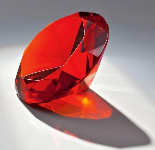 Glasdiamant rot