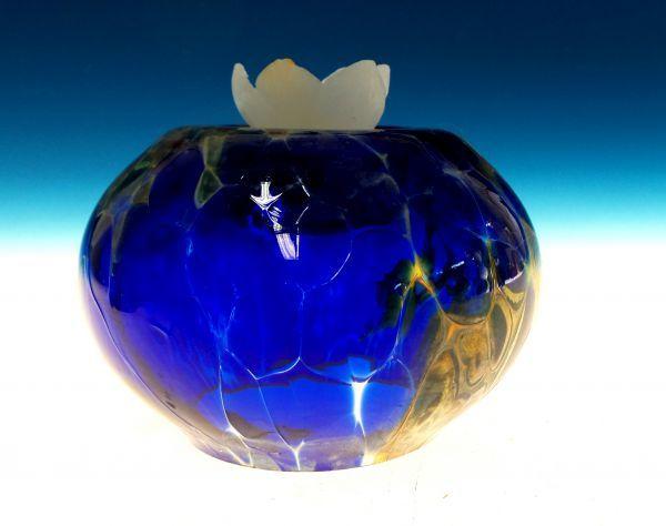 Teelicht Rund blau