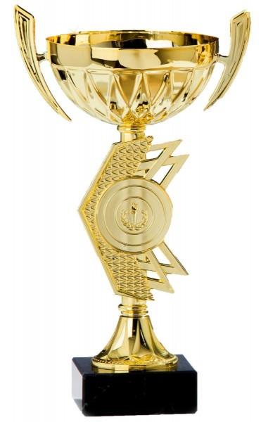 """Metall Pokal """" Kassia """" auf Marmorsockel"""