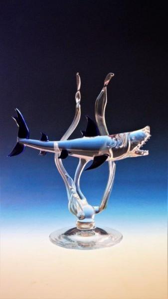 Haifisch auf Kobaldspiegel