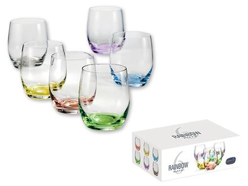6-teiliges Glasset bunter Boden