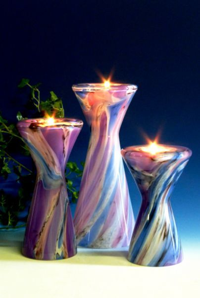 Teelicht bunt-lila