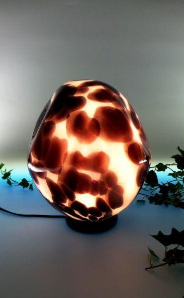 Glaslampen schwarz-weiß