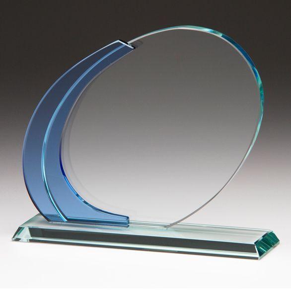 Premium Kobald-Kristallglas Award