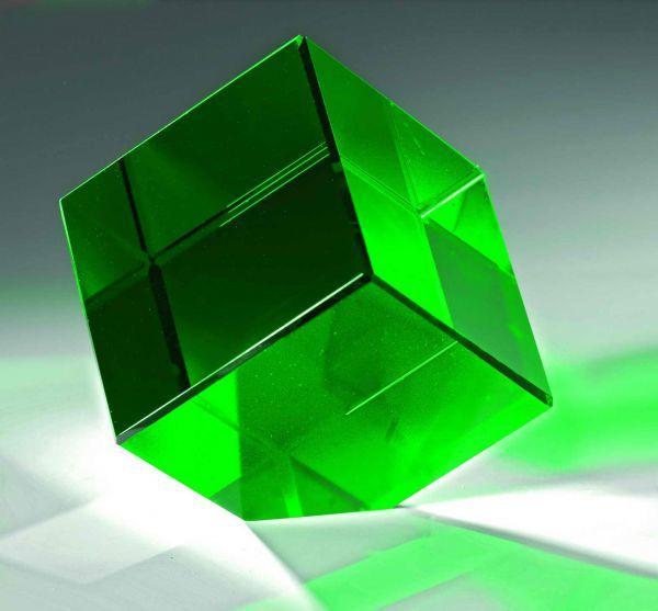 Kristallwürfel Grün