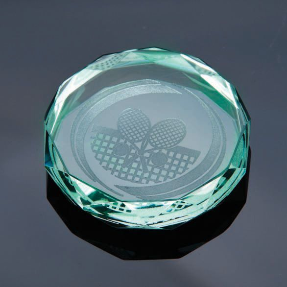 Glasmedaille-Jade-Diamantfeinschliff