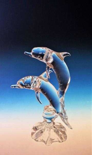 2 Delphine auf Wellen