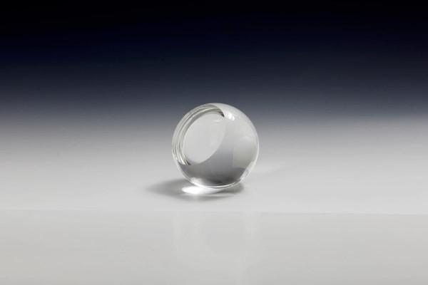 Kristallkugel mit Stellfläche und Gravurfläche