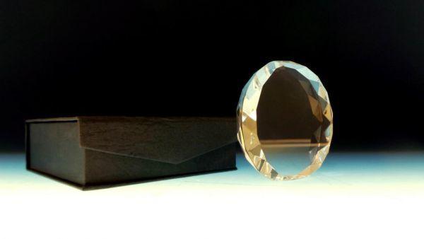 Optical Glasmedaille in Geschenkbox