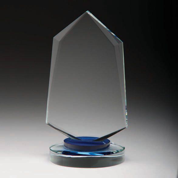 Kristallglas Award auf Sockel