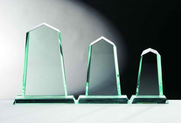 "Glastrophäe Jade "" Tower """