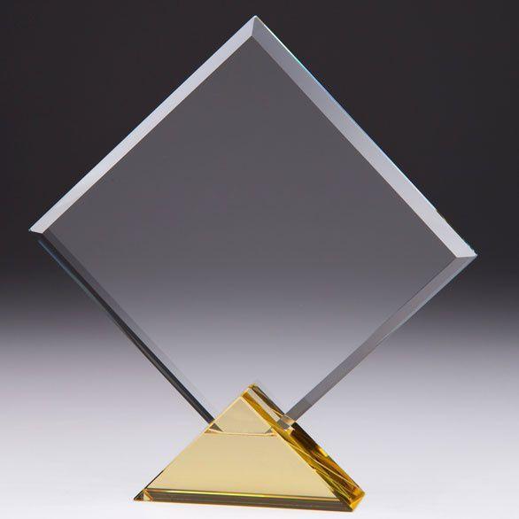 Art Deco Kristall Award auf Sockel