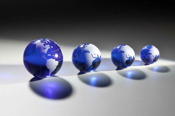 kobaldblaue Weltkugel