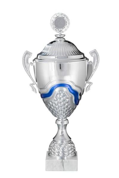 "Metall Cup Pokal "" Philippa "" auf Marmorsockel"