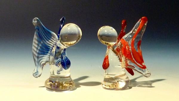handgefertigte Glasengel 2er Set.