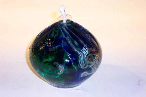 Öllampe-blau-grün