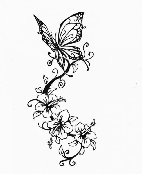 Schmetterling -Blume