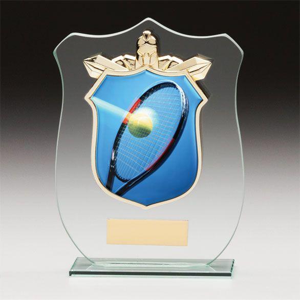 """Glaspokal Schild """" für das kleine Budget """""""