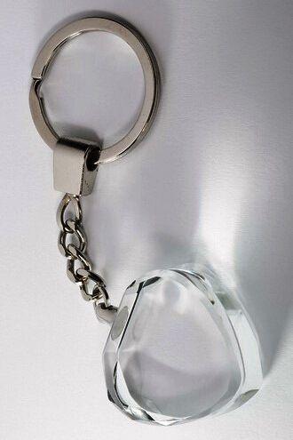 Glasherz-Schlüsselanhänger