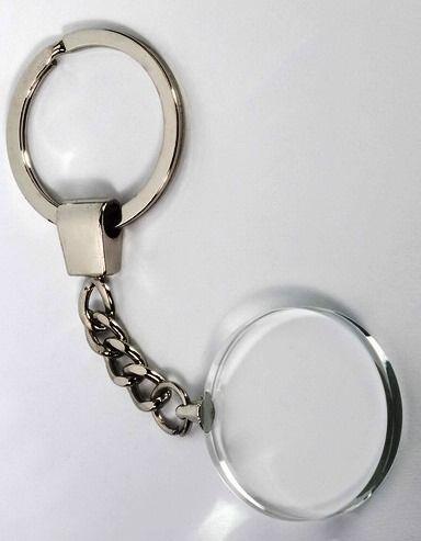 Glasmedaille-Schlüsselanhänger