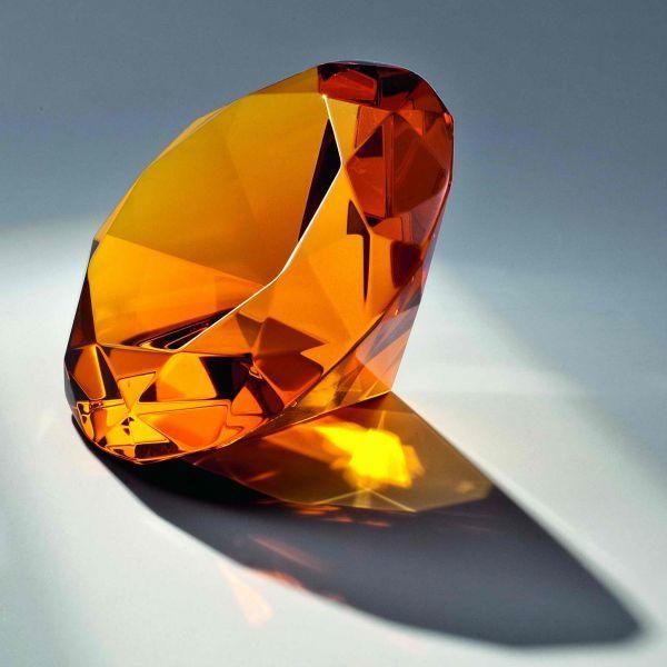 Glasdiamant Amber