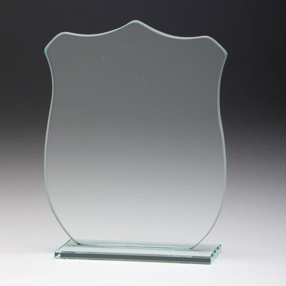 """Glaspokal Schild """" für das kleie Budget """""""