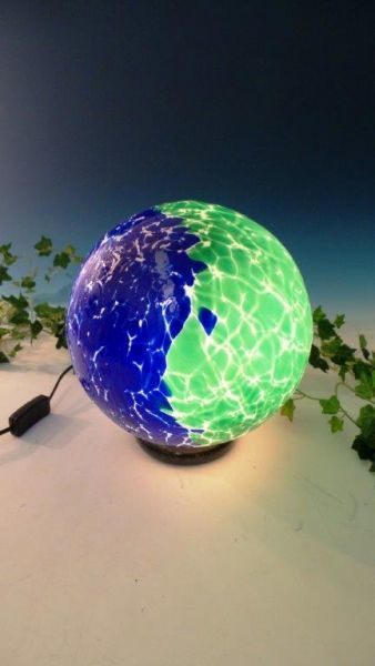 Glaslampe blau-grün