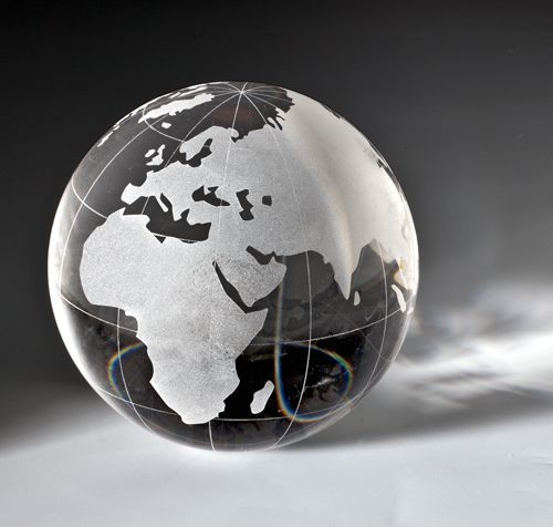 Kristall Weltkugel